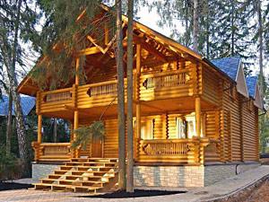 строительство дома оцилиндрованное бревно