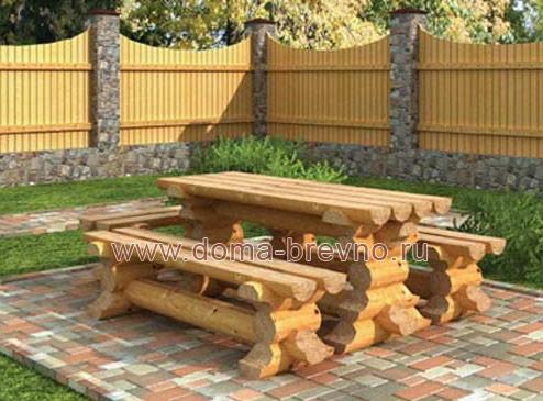 Проект деревянной беседки из бревна