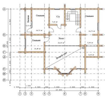 План первого этажа план второго этажа