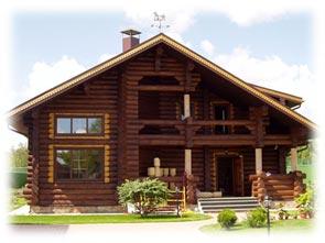 деревянный загородный дом из бревна оцилиндрованного