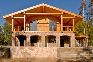 Комбинированный дом с верхней частью
