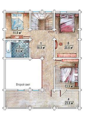 Проект дома из оцилиндрованного